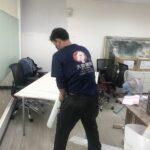 台北市大安區辦公室桌椅、藝術掛畫等包裝與搬運