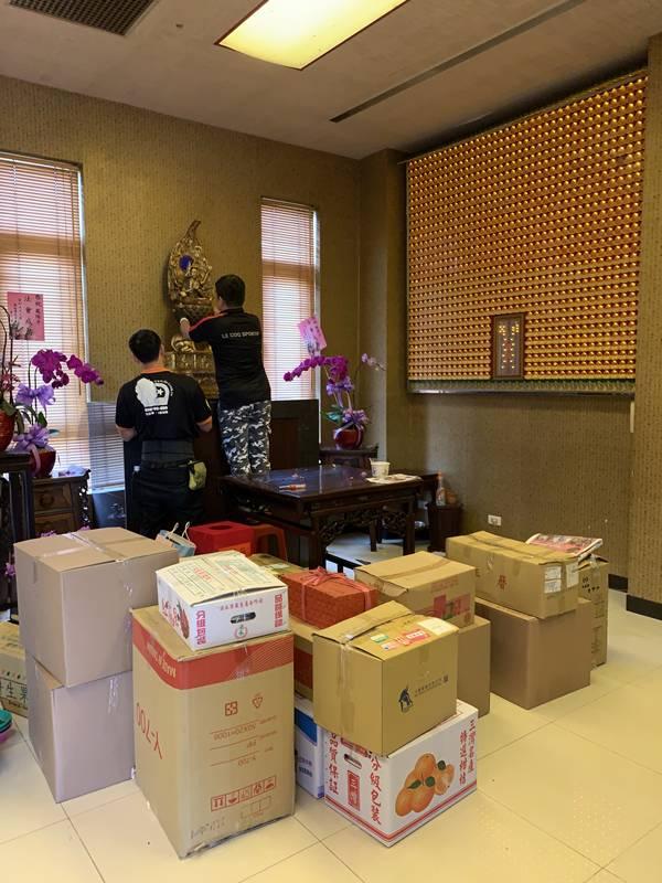 新北市搬家案例.林口寺廟搬家-大型石像、佛像搬運3